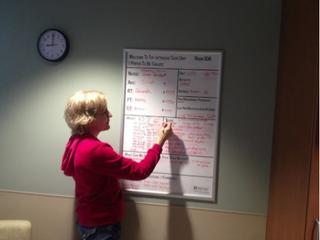 Writing on goal board