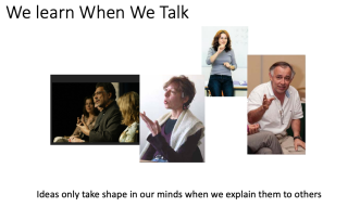 We learn when we talk